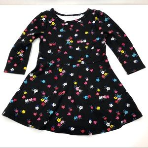 NWT Gap black flower skater dress 3T